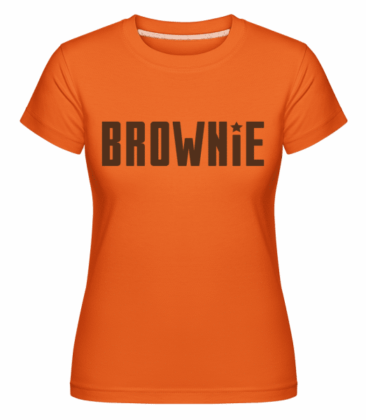 Brownie -  Shirtinator Women's T-Shirt - Orange - Vorn
