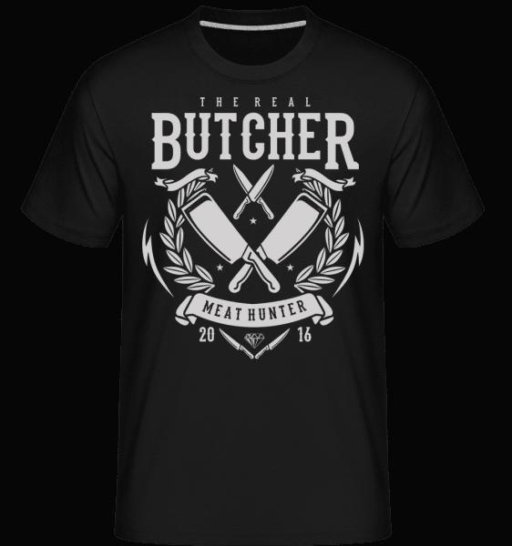 The Real Butcher -  Shirtinator Men's T-Shirt - Black - Front