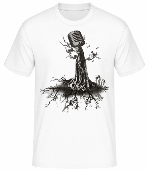 Microphone Tree - Men's Basic T-Shirt - White - Vorn