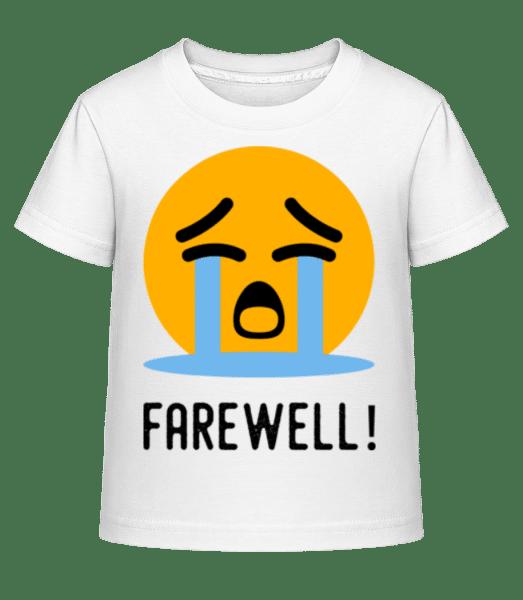 Farewell Crying Emoji - Kid's Shirtinator T-Shirt - White - Vorn