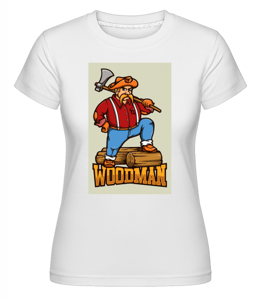 Woodman -  Shirtinator Women's T-Shirt - White - Vorn
