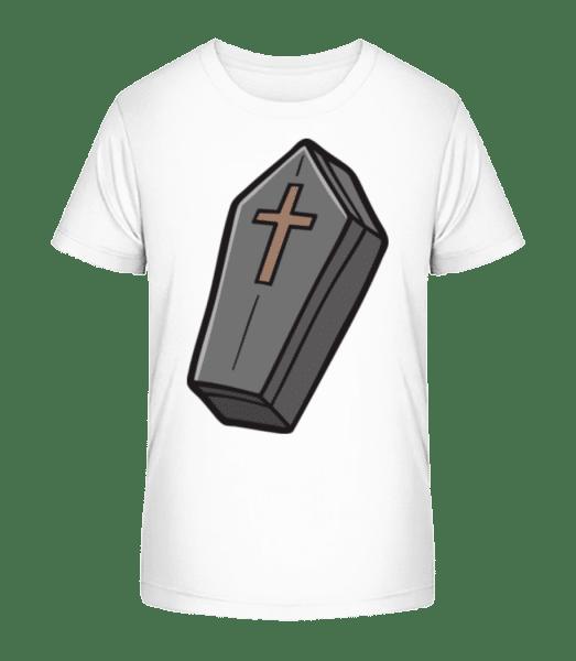 Cartoon Coffin - Kid's Premium Bio T-Shirt - White - Vorn