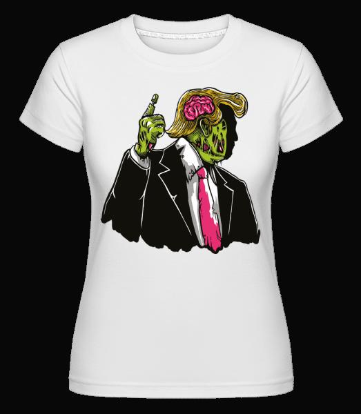 Make Zombie Great Again -  Shirtinator Women's T-Shirt - White - Vorn