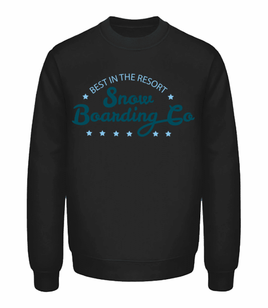 Snowboarding Co. Sign - Unisex Sweatshirt - Black - Vorn