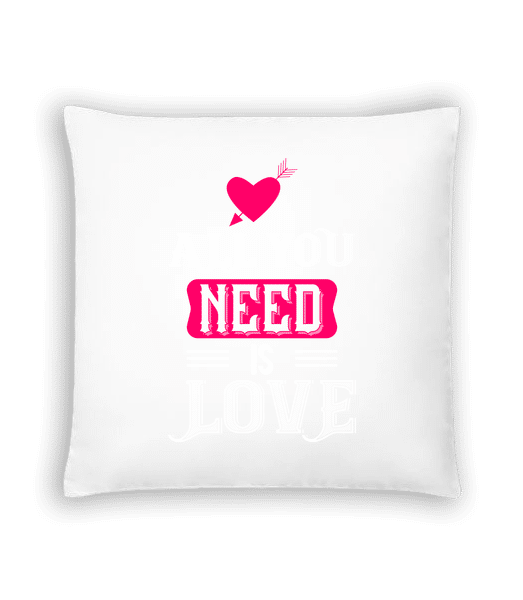 All You Need Is Love - Cushion - White - Vorn