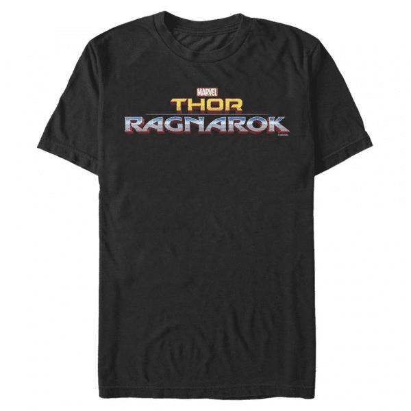 Ragnarok Logo Text - Marvel Thor Ragnarok - Men's T-Shirt - Black - Front