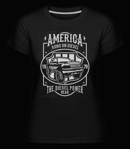 Runs On Diesel -  Shirtinator Women's T-Shirt - Black - Vorn