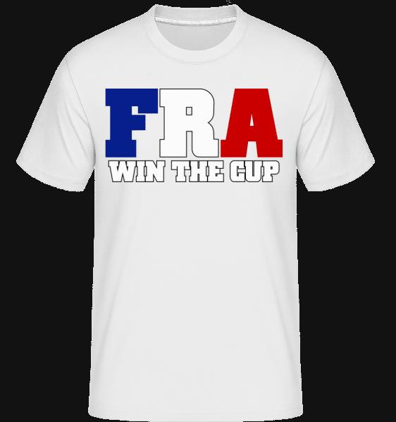 FRA Va Gagner La Coupe -  T-Shirt Shirtinator homme - Blanc - Vorn