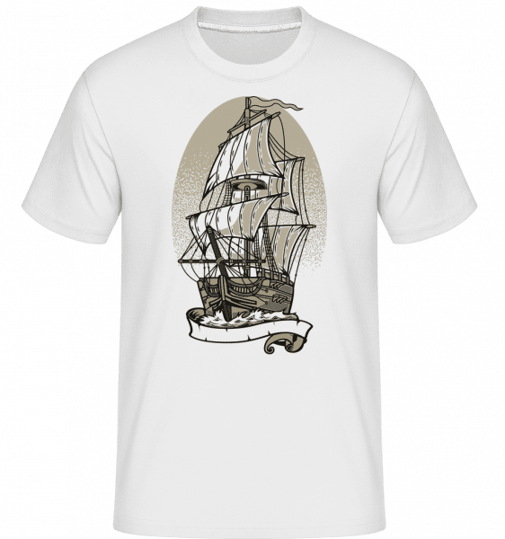 Ship -  Shirtinator Men's T-Shirt - White - Vorn