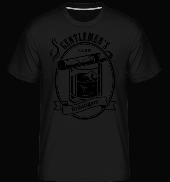Gentlemen's Club Bräutigam - Shirtinator Männer T-Shirt - Schwarz - Vorn