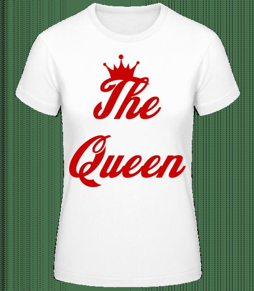 The Queen - Basic T-Shirt - White - Vorn