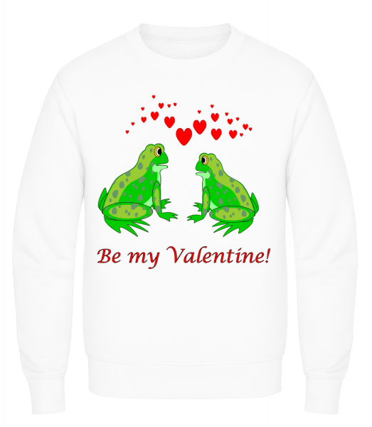 Frogs Be My Valentine - Men's Sweatshirt AWDis - White - Vorn