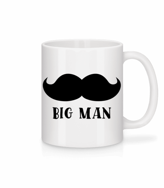 Big Man Mustache - Mug - White - Vorn
