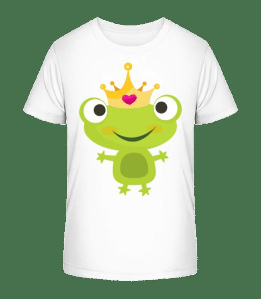 Princess Frog - Kid's Premium Bio T-Shirt - White - Vorn
