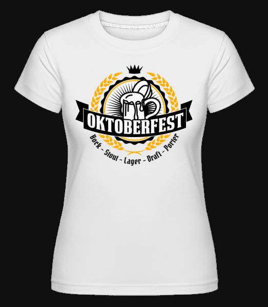 Oktoberfest Maß -  Shirtinator Women's T-Shirt - White - Vorn
