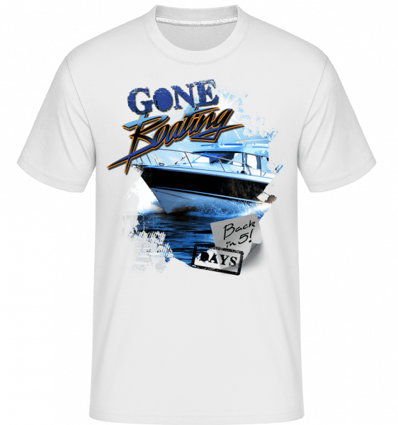 Gone Boating -  Shirtinator Men's T-Shirt - White - Vorn