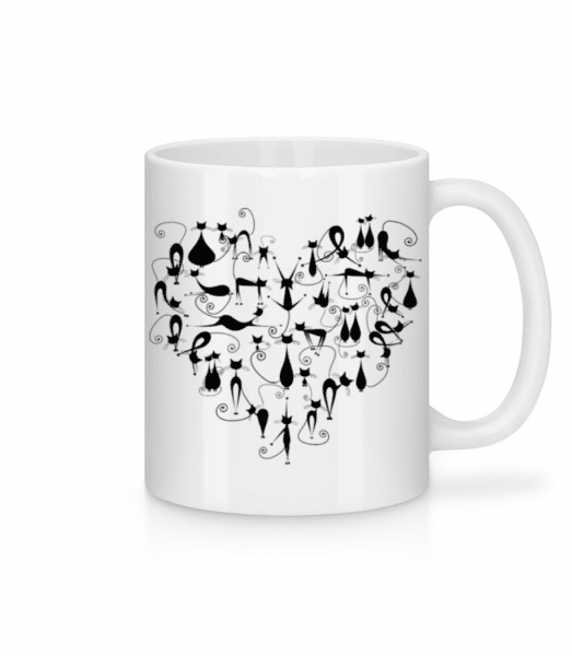 Cat Heart - Mug - White - Front