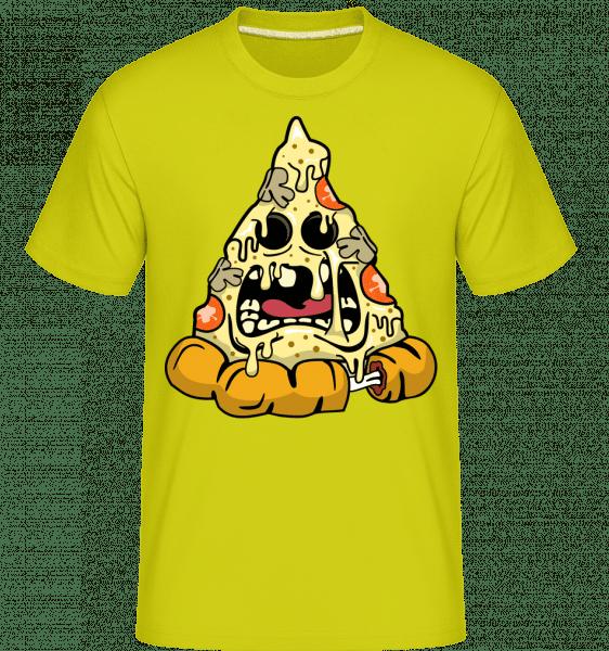 Pizza Monster Piramid -  Shirtinator Men's T-Shirt - Lime - Vorn