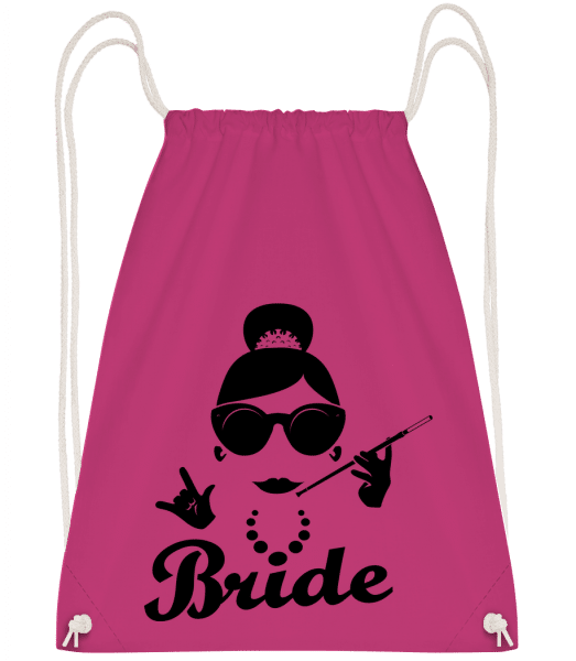 Bride - Drawstring Backpack - Magenta - Vorn