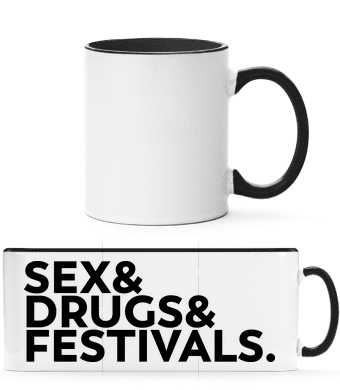 Sex Drugs Festivals - Two-toned Mug - White - Vorn