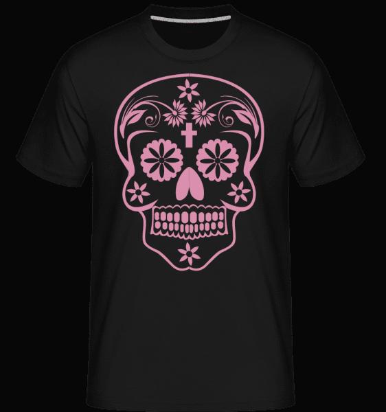 Día de los Muertos Skull -  Shirtinator tričko pre pánov - Čierna1 - Predné