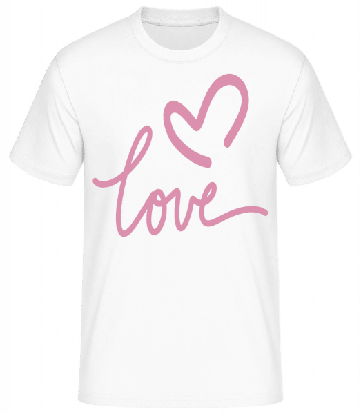 Love - Basic T-Shirt - Blanc - Vorn