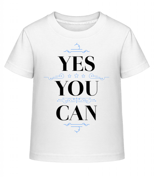 Yes, You Can - Kid's Shirtinator T-Shirt - White - Vorn