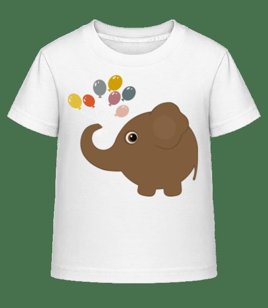 Kinder Comic - Elefant - Kinder Shirtinator T-Shirt - Weiß - Vorn