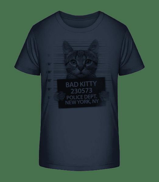 Criminal Cat - Kid's Premium Bio T-Shirt - Navy - Vorn