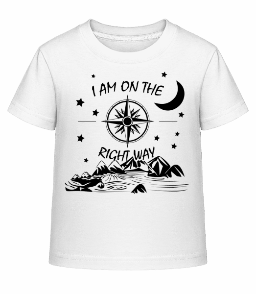 I Am On The Right Way - Kid's Shirtinator T-Shirt - White - Vorn