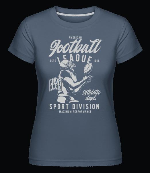 Football League -  Shirtinator Women's T-Shirt - Denim - Vorn
