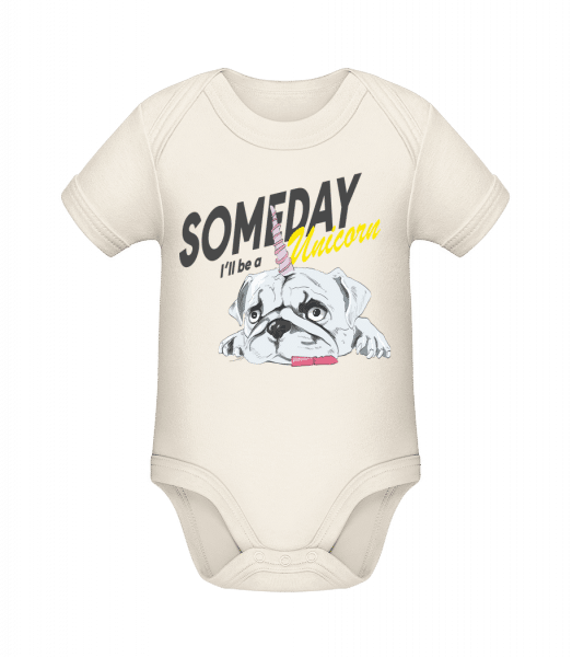 Someday I'll Be A Unicorn - Organic Baby Body - Cream - Vorn