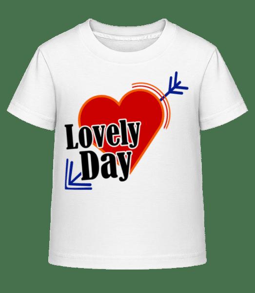 Lovely Day - Kid's Shirtinator T-Shirt - White - Vorn