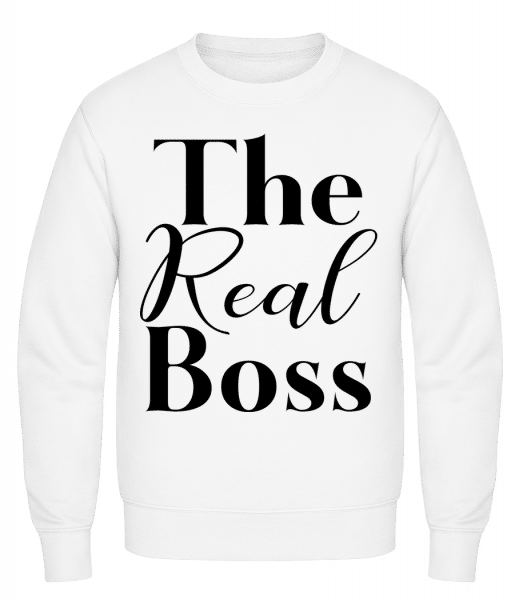 The Real Boss - Classic Set-In Sweatshirt - White - Vorn