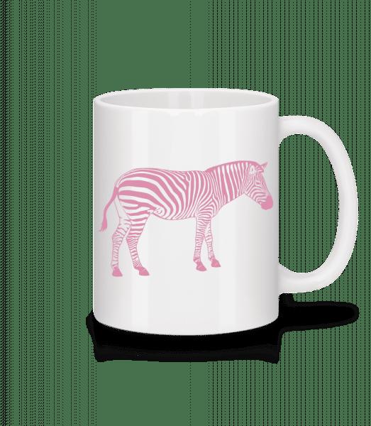 Zèbre - Mug en céramique blanc - Blanc - Devant