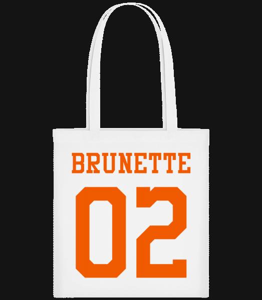 Brunette 02 - Carrier Bag - White - Vorn