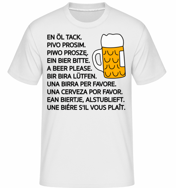 Beer Please -  Shirtinator Men's T-Shirt - White - Vorn