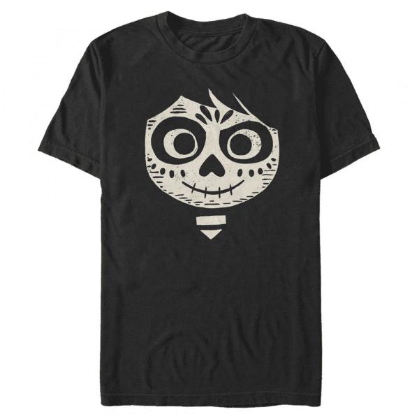 Miguel Face - Pixar Coco - Men's T-Shirt - Black - Front
