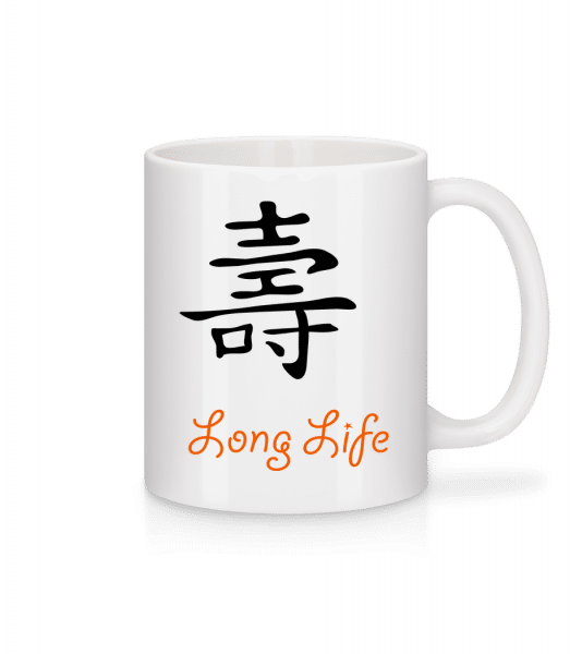 Chinese Sign Long Life - Mug - White - Vorn