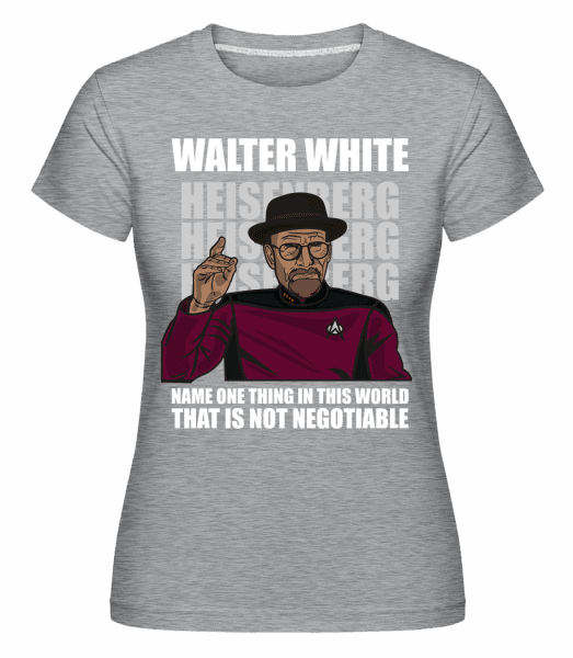 Captain Picard Heisenberg -  Shirtinator Women's T-Shirt - Heather grey - Vorn
