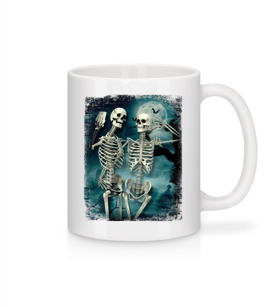 Skeleton Selfie - Mug - White - Vorn