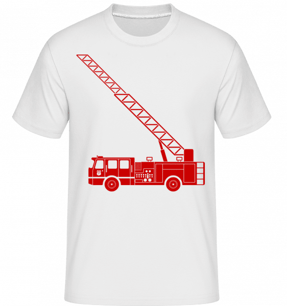 Fire Department Symbol Red - Shirtinator Männer T-Shirt - Weiß - Vorn