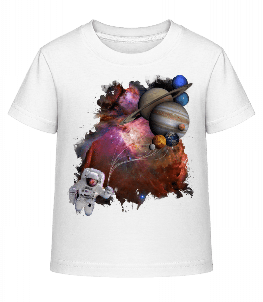 Astronaut In Outer Space - Kid's Shirtinator T-Shirt - White - Front