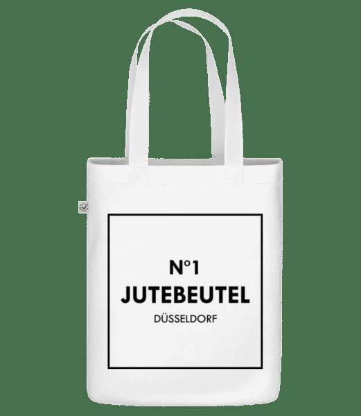 N1 Jutebeutel Düsseldorf - Bio Tasche - Weiß - Vorn