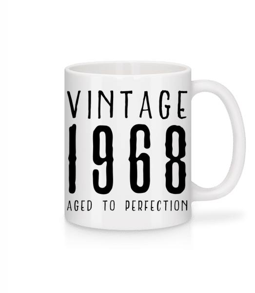 Vintage 1968 Aged To Perfection - Mug - White - Front