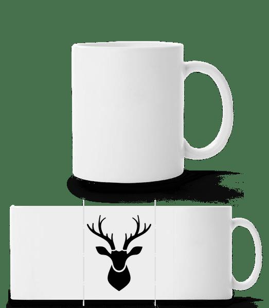 Deer Shadow - Panorama Mug - White - Front