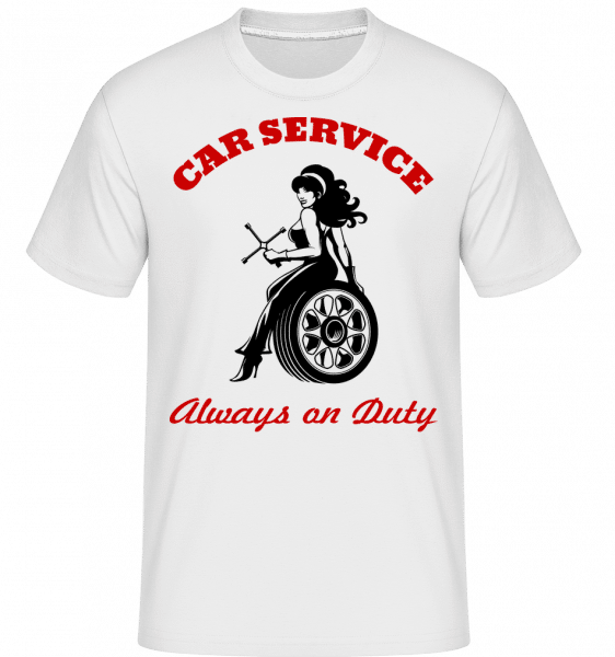 Car Service Sign -  Shirtinator Men's T-Shirt - White - Front