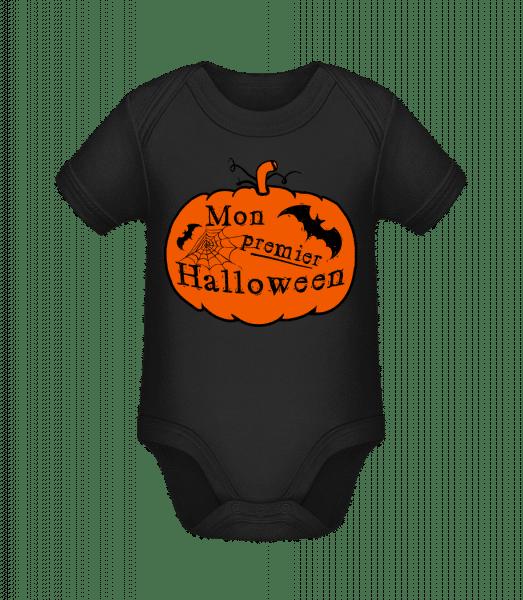 Mon Premier Halloween - Body manches courtes bio - Noir - Vorn