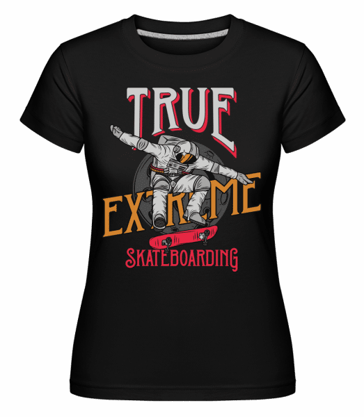 True Extreme Skateboarding -  Shirtinator Women's T-Shirt - Black - Vorn