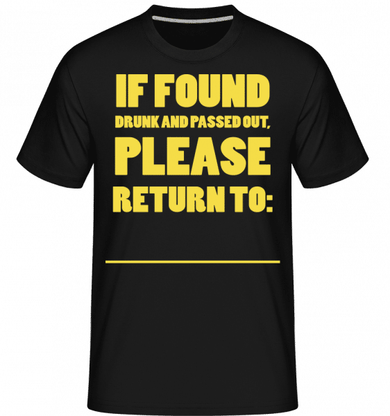 Please Return To -  Shirtinator Men's T-Shirt - Black - Vorn